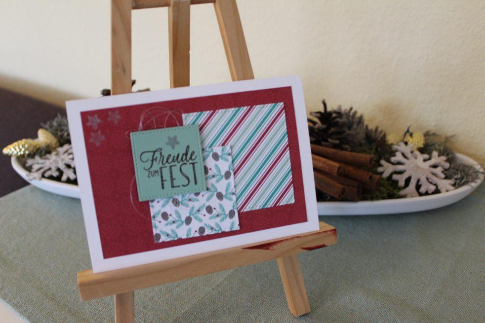 Weihnachtskarte mit DSP