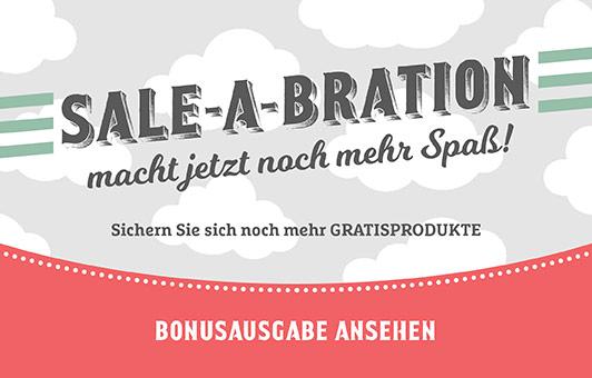 Die zweite Ausgabe der Sale-A-Bration Broschüre ist raus und möchte euch für drei neue Produkte begeistern.