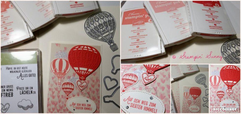 Die Collage zum Blog Hop Hochzeit zeigt alle verwendeten Materialien und Farben.