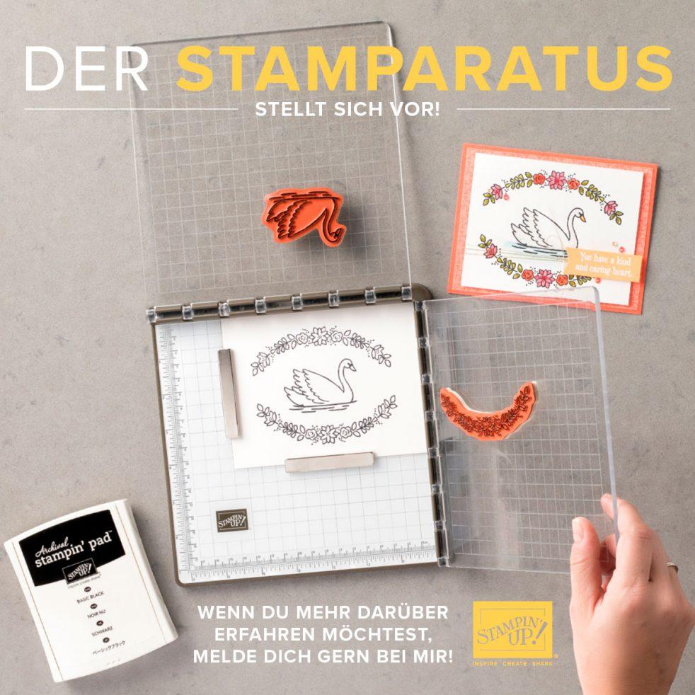 Der Stamparatus von Stampin' Up! wurde entwickelt und eröffnet damit eine neue Welt des Stempelns.