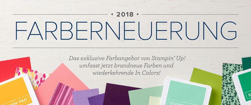Stampin' Up! feiert 30-jähriges Jubiläum und erneuert die Farben für den neuen Jahreskatalog 2018-2019.